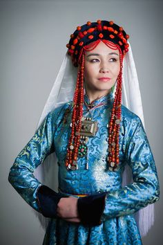 The various (and wildly different) traditional ornaments and dress of seven Buryat sub-groups