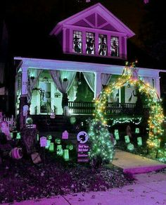 think your haunted house can scare us try us ultimate halloween contest source purple halloween via - Halloween Light Ideas