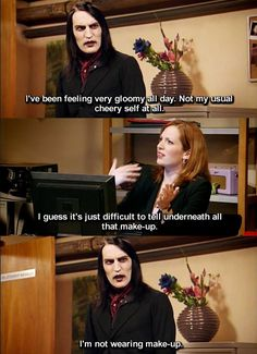 Noel Fielding as Richmond the IT Crowd! Noel Fielding, Goth Memes, Goth Humor, Make You Cry, How To Make, How To Be Goth, The Mighty Boosh, British Comedy, British Humor