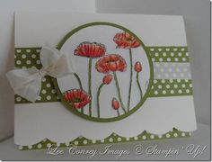 More nice poppies. Love this layout -- you don't always have to see the whole stamp.