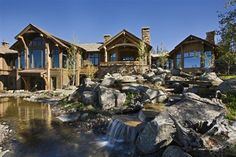 yellowstone club rustic house exterior