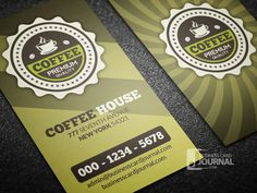 Download » http://businesscardjournal.com/retro-coffee-business-card-loyalty-card-template/  Retro Coffee Business Card & Loyalty Card Template