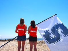 Future alums of Staples High School in Westport, CT stand out at Compo beach,   reminiscing on high school times. They wear their 203 home shirts to remind them that the 203 will always be their home.