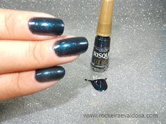 Esmalte Miragem Azul Risqué color ~ Rockeira e Vaidosa