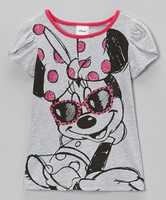 Take a look at this Heather Gray Shades Petal-Sleeve Tee - Toddler & Girls by Disney on #zulily today! $7.99