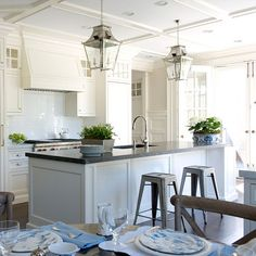 Off-white Kitchen Cabinet - Benjamin Moore Linen White., Brooks and Falotico.