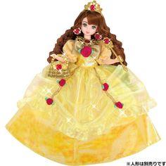 Takara Tomy Licca Doll Dreaming Princess Yellow Rose Dress (886020)