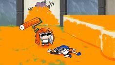 Splatoon in a nutshell Splatoon Memes, Nintendo Splatoon, Splatoon 2 Art, Splatoon Comics, Splat Tim, Sr Pelo, Video Game Memes, Video Games, Pokemon
