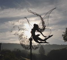 Beautiful fairy sculpture made from wire!