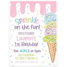 Ice Cream Invitation | Forever Your Prints