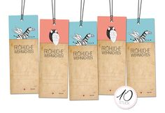 Deko und Accessoires für Weihnachten: 10 weihnachtliche Geschenkanhänger made by Stfi-Art via DaWanda.com