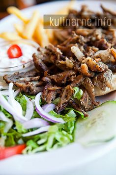 Greek gyros with tzatziki