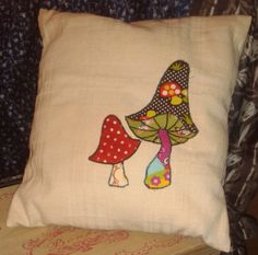 hand made mushroom cushion