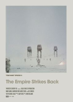 Retro Cinema Poster: Empire Strikes Back Art Print by craftandgraft Famous Movie Posters, Minimal Movie Posters, Famous Movies, Cinema Posters, Movie Poster Art, Iconic Movies, Poster Series, Top Movies, Poster Wall