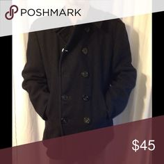 "Vintage Navy Men's Peacoat 44 Very nice vintage Peacoat. I think the color is black but could be a very dark navy. I don't think it is an official US Navy Coat but looks like one. Great condition.  Marked size 44 - Chest 50"" Length 28"" Vintage Jackets & Coats Pea Coats"
