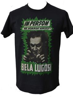 MENS BLACK T SHIRT BELA LUGOSI CULT - Meeting Lugosi.  Yeah, that would be a strange experience to be sure.  He brought the bloodsucker to the nightmares of many...