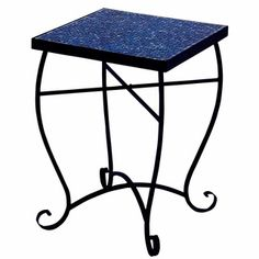 Moroccan Mosaic Blue Square Side Accent Table - 17816509 - Overstock.com Shopping - Big Discounts on Coffee & Side Tables