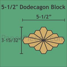 "5-1/2"" Dodecagon Block Papers and Acrylic Sets to match the Downloadable Pattern."