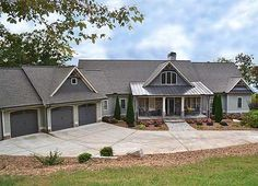 Rustic House Plan 29876RL with 2 beds on main and 3 more on the walkout basement…