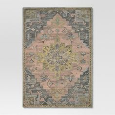 Pink and Gray Vintage Wool Rug - Threshold™ at Target. Affiliate link.