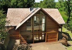 Oak framed house Devon 1 Oak Frame House, Timber Frame Homes, Front Entrances, Grand Designs, New Builds, Distillery, Look Cool, Devon, Dream Homes