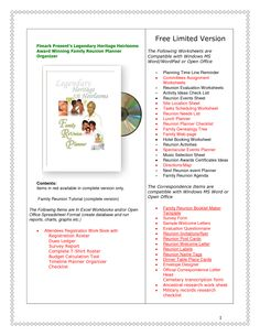 family reunion ideas | free family reunion planner
