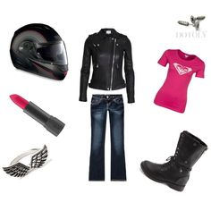 """Mean Girl Motorcycle Outfit"" by kjbrev on Polyvore"