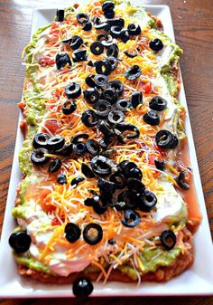 Mexican Layered Dip…a great snack for the big game party!