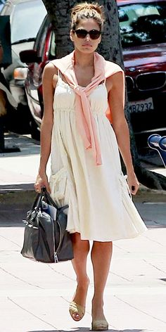 Look of the Day photo | Eva Mendes...so chic in this dress