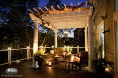 Pergola Decorating Ideas Outdoor Lighting pergola lighting ideas illuminate outdoor space Source: website ways decorate pergola Source. Pergola Cost, Outdoor Pergola, Pergola Shade, Backyard Patio, Wooden Pergola, Diy Pergola, Patio Roof, Curved Pergola, Pergola Swing