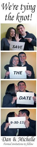 """A truly fun option!  www.CNYPhotoBooth.com Give us a call and ask about our totally fun """"Save the Date"""" photo strips!  As low as $2.00 ea (based on quantity) complete with envelopes and magnetic vinyl hangers"""