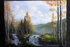 Want to learn how to paint waterfalls? Watch Kevin as he paints this Autumn landscape with two waterfalls! Go to www.paintwithkevin.com for more information about his brush line, instructional DVDs and paint.