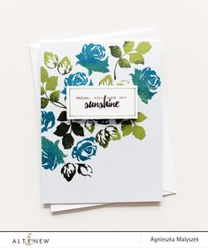 Want to mass produce this beautiful card from Agnieszka? Try stamping in different colors and celebrate your awesome someone using Vintage Roses and Best Mom Stamp Set and dies.