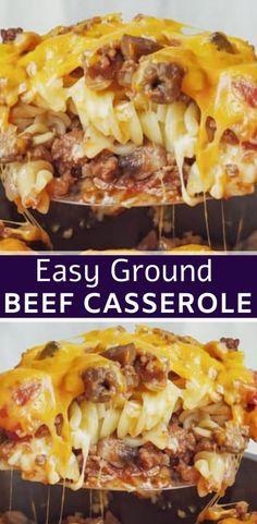 Johnny Marzetti Casserole Recipe, Beef Casserole Recipes, Casserole Dishes, Meat Recipes, Hamburger Recipes, Johnny Marzetti Recipe Velveeta, Dinner Recipes, Hamburger Noodle Casserole, Dinner Ideas