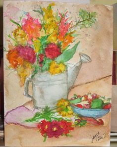 Celebrate Summer - Handpainted Original Watercolor Painting Blank  Greeting Card by joyceweaver, $6.50