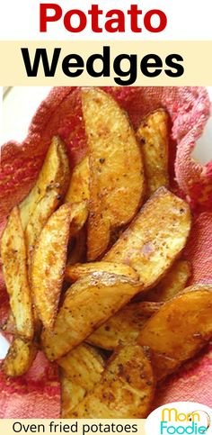 Easy Potato Wedges baked and seasoned.  These potatoes are simple to prepare and cooked on a sheet pan in the oven. #potato