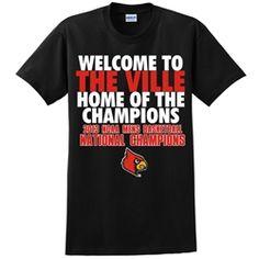 Lousiville Cardinals National Champions T-shirt Design 5 - Black | Neutral Zone Cardwear