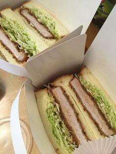 カツサンド Food Business Ideas, Tonkatsu, Pork Cutlets, Junk Food, Japanese Food, Asian Recipes, Meal Prep, Sandwiches, Perfume