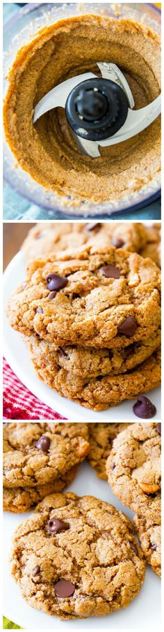 How to make flourless (gluten free!) chocolate chip cookies! That actually taste GREAT, too!