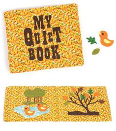 Love this fabric quiet book :) Cut out the fabric details using a @Cricut Expression 2!
