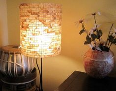 DIY Crafts with Coffee Filters | DIY Lampshade by DIY Ready at http://diyready.com/uses-for-coffee-filters-diy-projects-and-ideas