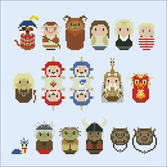 Labyrinth (giant version) - Movies - Mini People - Cross Stitch Patterns - Products