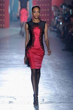 A dress Red/Black & flattering all around.  Jason Wu - Fall 2012