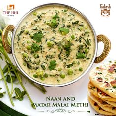 A vegetarian by choice? Watch out for the best of our vegetarian delights crafted with the rich Indian spices. #Kalash #Naan #MatarMalaiMethi #IndianSpices #BengaliFood #Restaurant #Delicious #HHIHotels #Kolkata