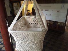 Baby Hanging Bassinet, Hanging Cradle, Hanging Crib 100% Handmade Organic Cotton - Classic - Mission Hammocks - 5