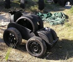 1000 images about re using old tires for playgrounds for Used tire yard art