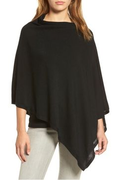 Main Image - Eileen Fisher Tencel® & Wool Poncho