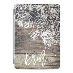 Drift typography vintage striped wood boho hand drawn flowers by Girly... ($50) ❤ liked on Polyvore featuring accessories and tech accessories