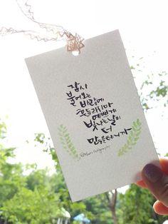 44번째 이미지 Calligraphy Cards, Caligraphy, Doodle Lettering, Hand Lettering, Learn Korea, Me Me Me Anime, Watercolor Paintings, I Am Awesome, Doodles