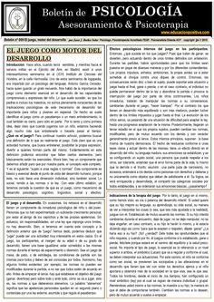 The game as an engine of development (spanish) by Juan J. Ibáñez Solar  El juego como motor del desarrollo, por Juan J. Ibáñez Solar